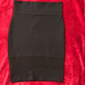 Bebe Black and Mesh Skirt